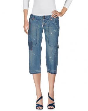 Джинсовые брюки-капри GURU. Цвет: синий