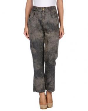 Повседневные брюки ADELE FADO. Цвет: свинцово-серый