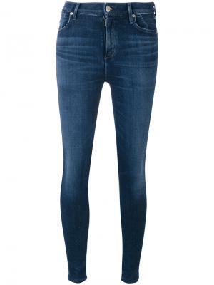 Облегающие джинсы Citizens Of Humanity. Цвет: синий