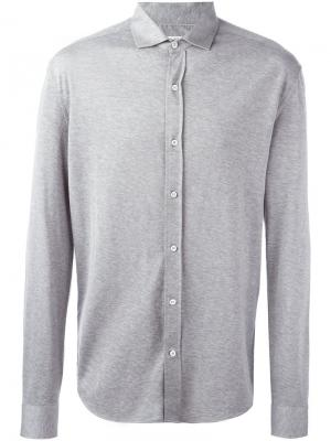 Рубашка на пуговицах Brunello Cucinelli. Цвет: серый