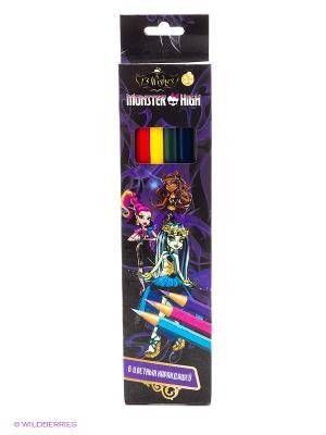 Карандаши цветные Мonster High, 6 цветов Centrum. Цвет: фиолетовый