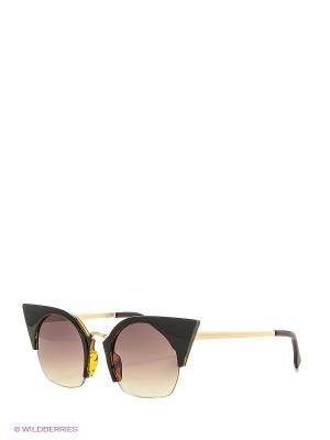 Солнцезащитные очки Vita pelle. Цвет: белый, золотистый, желтый