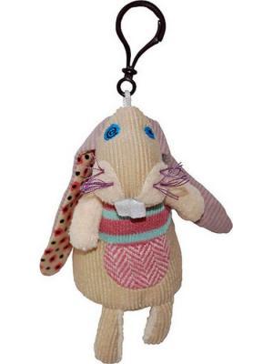 Игрушка Deglingos Кролик Lapinos - брелок. Цвет: бежевый