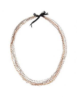 Ожерелье NUR. Цвет: коричневый
