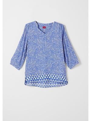 Блузка S.OLIVER. Цвет: голубой, светло-серый