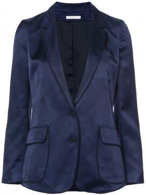 Классический приталенный пиджак 6397. Цвет: синий