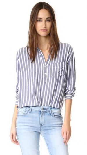 Рубашка с пуговицами Elle RAILS. Цвет: белые storm полоску