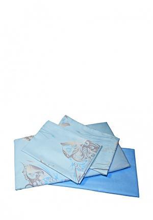 Постельное белье Tete-a-Tete. Цвет: голубой