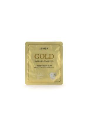 Гидрогелевая маска для лица с золотом, 32гр Petitfee. Цвет: прозрачный