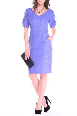 Офисное платье-футляр Laura Bettini. Цвет: фиолетовый