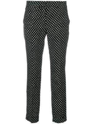 Укороченные брюки с узором в горох Etro. Цвет: чёрный