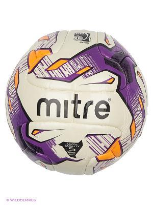 Мяч футбольный MITRE ECCITA FIFA Inspected. Цвет: сиреневый, белый, черный, оранжевый