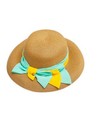 Шляпа Kameo-bis. Цвет: зеленый, коричневый, желтый
