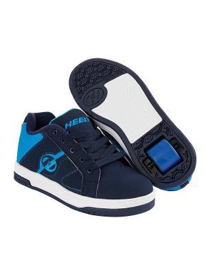 Роликовые кроссовки Split Heelys. Цвет: черный, синий