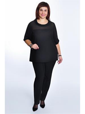 Блузка RISE. Цвет: черный
