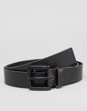 Dead Vintage Узкий кожаный ремень. Цвет: черный