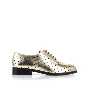Ботинки-дерби кожаные Charly MELLOW YELLOW. Цвет: золотистый,черный