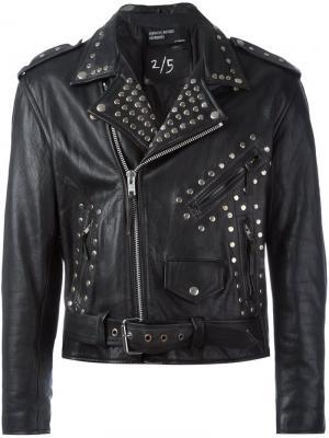 Байкерская куртка с заклепками Enfants Riches Deprimes. Цвет: чёрный