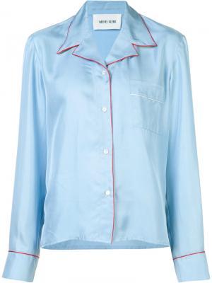 Рубашка с контрастной окантовкой Michel Klein. Цвет: синий