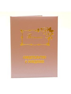 Именная обложка для свидетельства о рождении Василиса Dream Service. Цвет: розовый