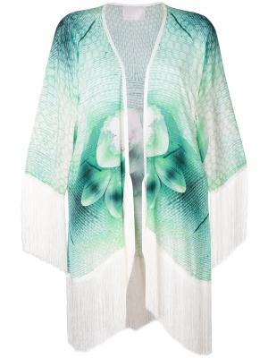 Пальто-кимоно Gypsy Eyes Athena Procopiou. Цвет: зелёный