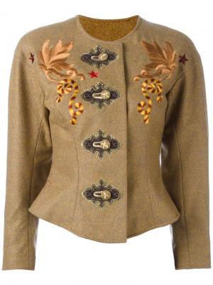 Куртка с вышивкой Christian Lacroix Vintage. Цвет: коричневый