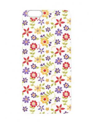 Чехол для iPhone 6 Лютики цветочки Chocopony. Цвет: белый, черный