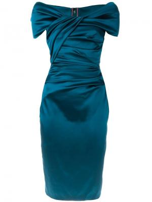 Платье Koori Talbot Runhof. Цвет: синий