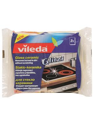 Губка для стеклокерамики, 2шт Vileda. Цвет: желтый