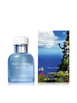 Туалетная вода Dolce&Gabbana Light Blue Beauty Of Capri, 40 мл. DOLCE & GABBANA. Цвет: прозрачный
