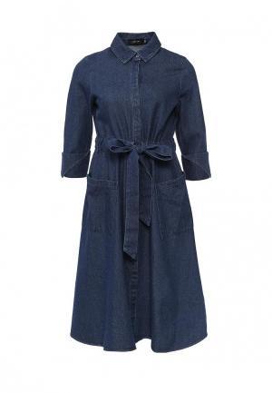 Платье джинсовое LOST INK. Цвет: синий