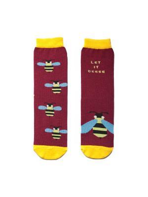 Носки махровые Big Bang Socks. Цвет: бордовый