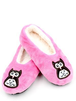 Носки-тапочки HOBBY LINE. Цвет: розовый