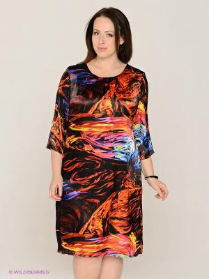Платье MAFUERTA. Цвет: оранжевый, желтый, черный, синий, терракотовый, фиолетовый, красный
