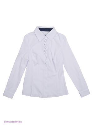 Блузка КАЛIНКА. Цвет: белый, синий