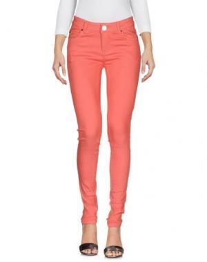 Джинсовые брюки ATELIER FIXDESIGN. Цвет: коралловый