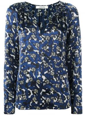 Блузка с цветочным принтом Dorothee Schumacher. Цвет: синий