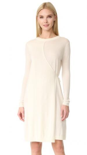 Многослойное трикотажное платье Hether JENNY PARK. Цвет: ванильное мороженое