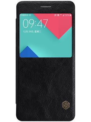 Samsung Galaxy A5 (2016) Nillkin Qin leather case. Цвет: черный