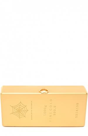 Металлический клатч Worth Its Weight в виде слитка золота Charlotte Olympia. Цвет: золотой