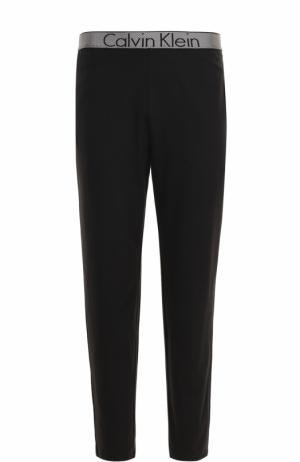 Хлопковые домашние брюки с широкой резинкой Calvin Klein Underwear. Цвет: черный