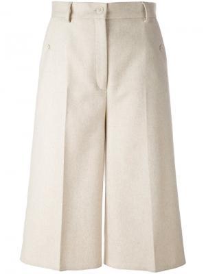 Широкие брюки Mm6 Maison Margiela. Цвет: телесный