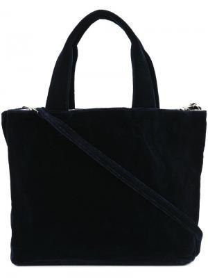 Прямоугольная сумка-тоут среднего размера Zilla. Цвет: синий