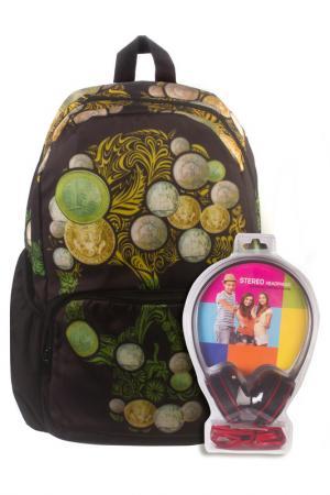 Рюкзак Роджер-Монеты 3D BAGS. Цвет: черный, зеленый