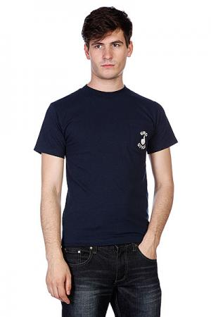 Футболка  Pocket Black Bro Style. Цвет: синий
