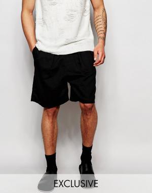 Unplugged Museum Льняные шорты. Цвет: черный