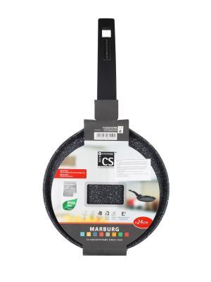 Сковорода для блинов MARBURG из кованого алюминия с мраморным покрытием Procalon, 24см Koch Systeme. Цвет: черный
