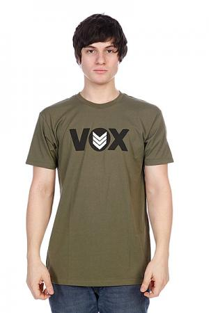Футболка Vox Global Mil Green. Цвет: зеленый