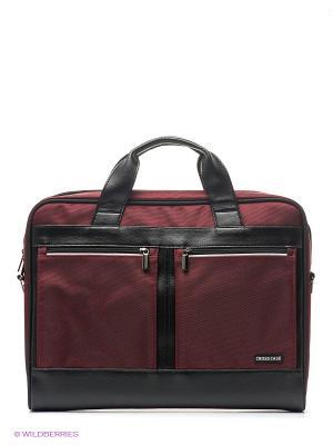 Сумка для ноутбука Cross Case. Цвет: бордовый, черный