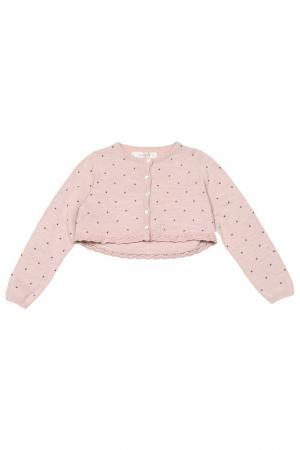 Жакет Mango Kids. Цвет: розовый